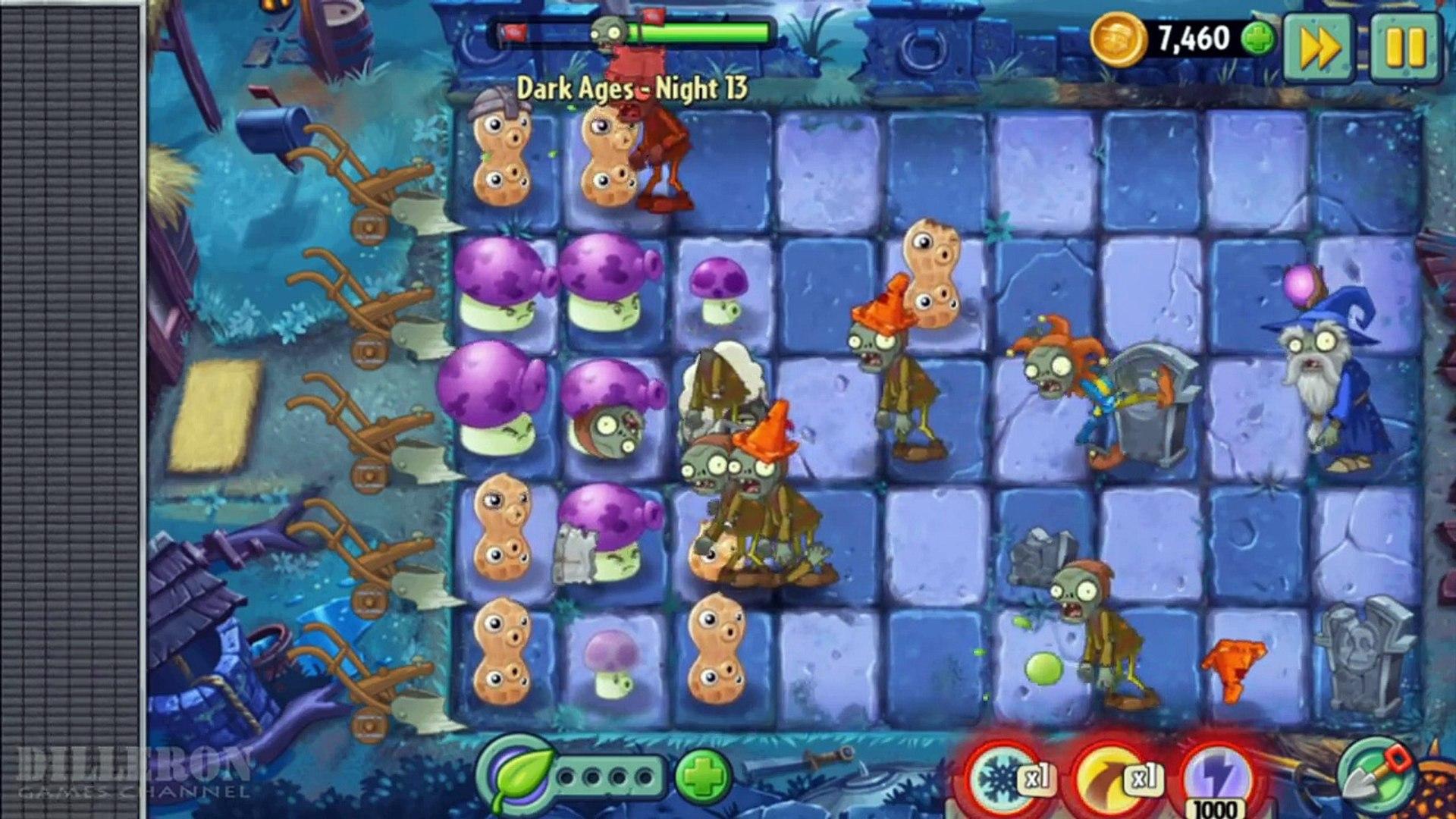 ч.126 Plants vs. Zombies 2 - Dark Ages - Day 13