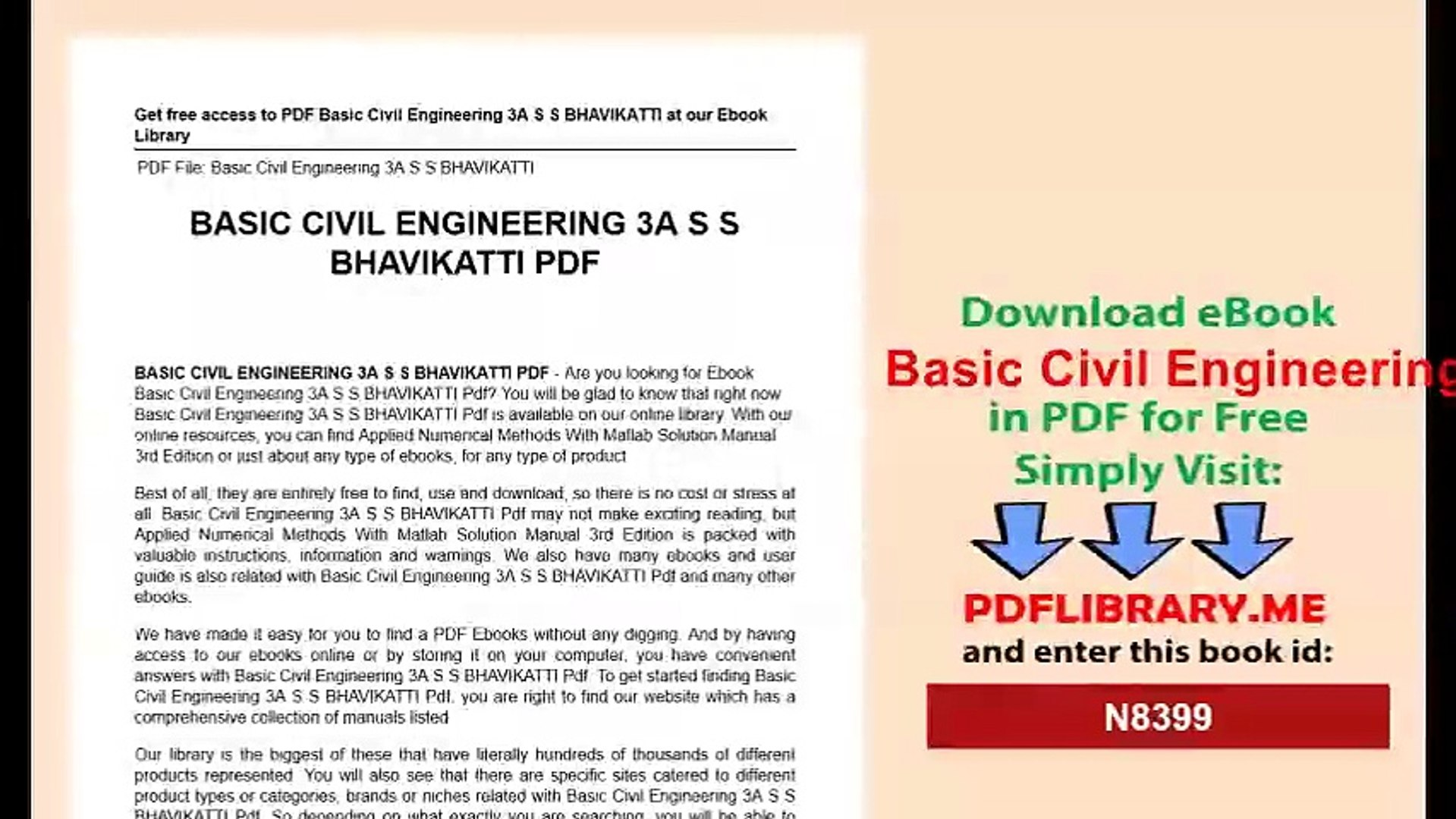 Basic Civil Engineering S S BHAVIKATTI