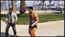 GTA 5 Stunt Fight - Mortal Kombat Scene funny moments