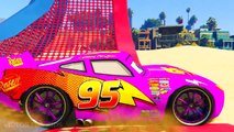 Learn Colors - Lightning Mcqueen Color Cars in Spiderman Cartoon - Colors For Kids & Nursery Rhymes