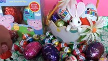Peppa Pig Surprise Easter Eggs Hunt Kinder Surprise Toys Easter Bunny Lalaloopsy English Mini MGA