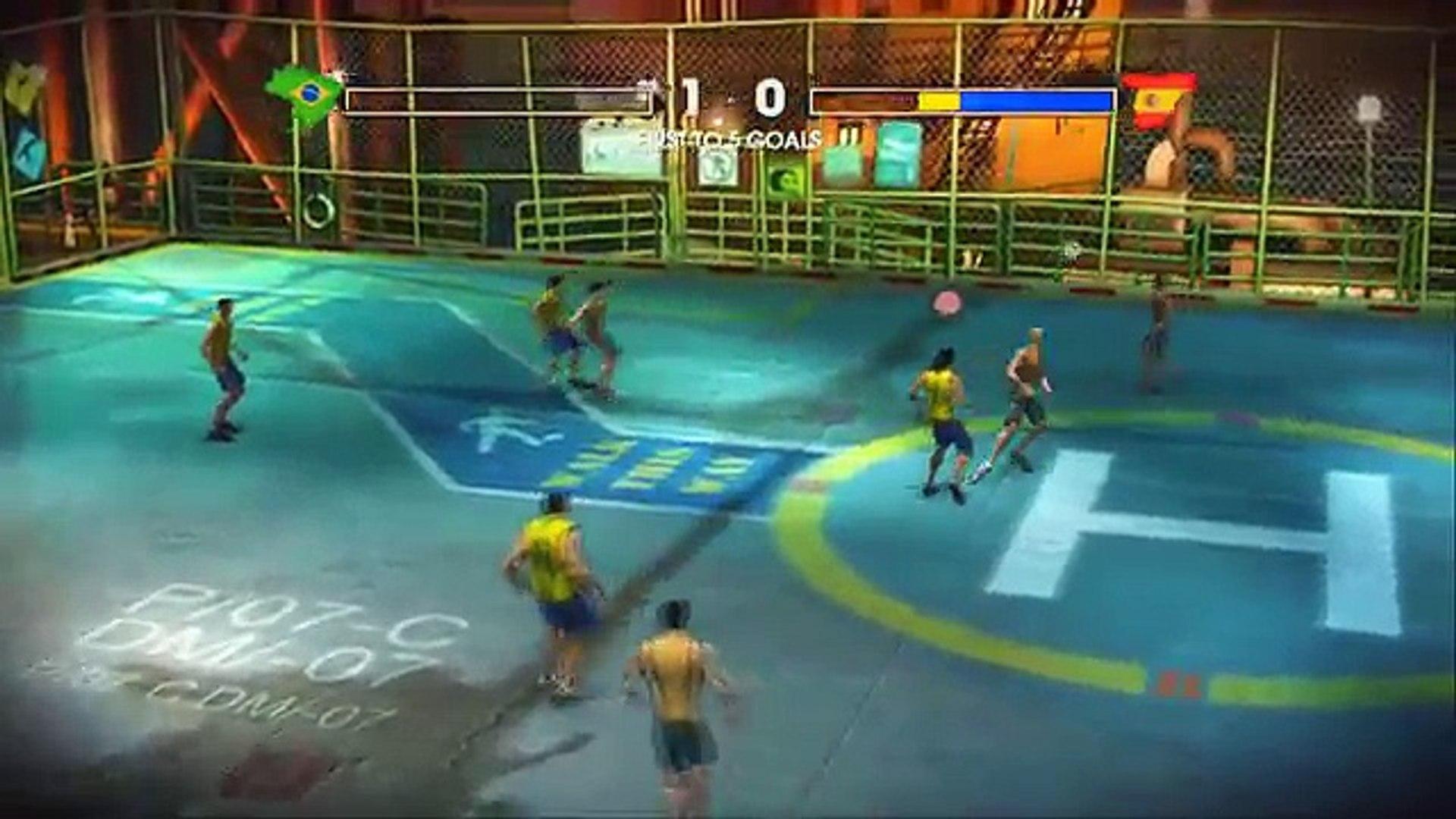 Fifa Street 3 - #Xbox 360# - Brasil, comigo no time a gente é campeão Mundial!