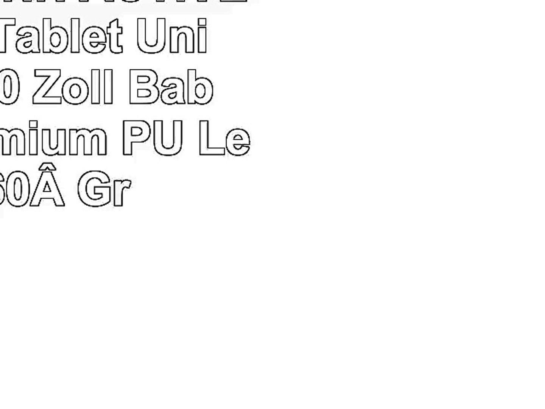Emartbuy iINN ACTIVE 101 Zoll Tablet Universal  9  10 Zoll  Baby Rosa Premium PU
