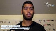 Albi / Provence Rugby : la réaction de Mohamed Kbaier