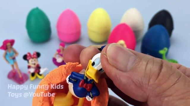 Play Doh Surprise Eggs Barbies Thomas & Friends Shopkins Minnie Mouse Donald Duck The Good Dinosaur