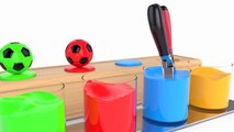 Learn Colors with Soccer Balls for Children Toddlers - Colors with Tools Playset - BinBin COLORS