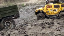 RC TRUCKS OFF Road MUD Terrain - Scale model: MAN Truck 6x6, Hummer, Tamiya Pajero, Axial, HPI