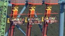 Ce manège est fou : chute libre de 126 mètres de hauteur à 140kmh