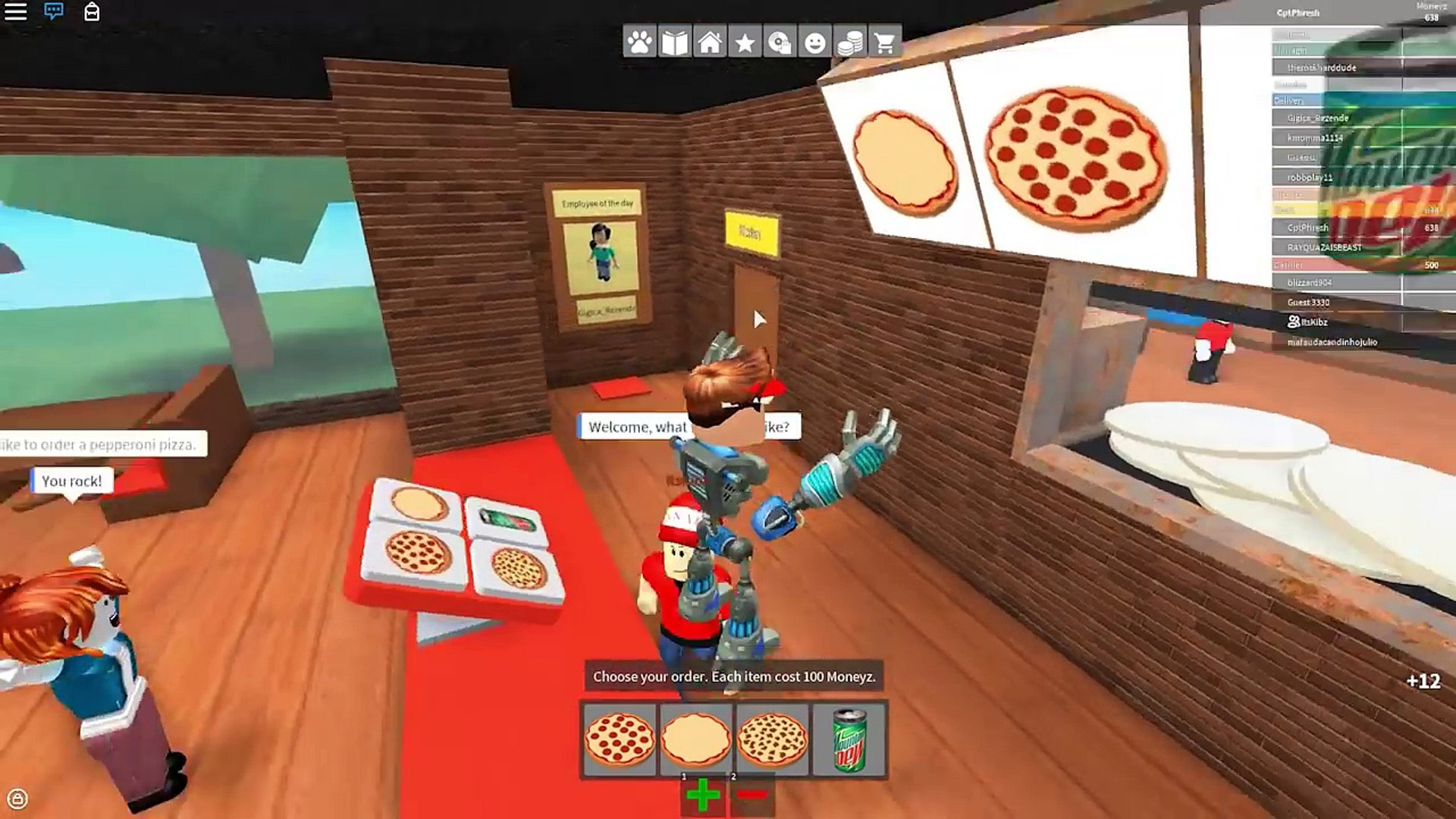 Roblox Work At A Pizza Place Best Job 2016 Video Dailymotion