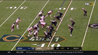 Saints shut down Bears pass play on fourth down