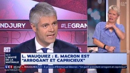 [Zap Actu] Laurent Wauquiez tire à boulets rouges sur E. Macron (30/10/2017)