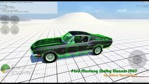 BeamNG.Drive Mod : Ford Mustang Shelby Eleanor 1967 + Engine Sound Mod (Crash test)