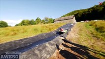 Extreme Slip n Slide! - People are Awesome