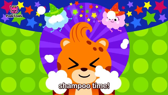 Wash My Hair _ Everybody, fun time, shampoo time! _ Healthy Habits _ Pinkfong Songs for Children-Dx9q8pbVqjA