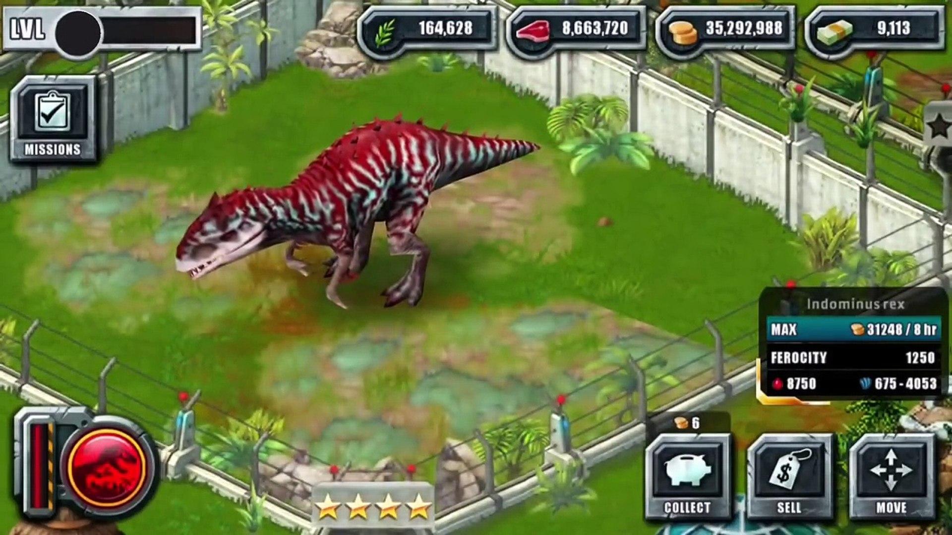 INDOMINUS REX Max LEVEL 40 - Jurassic Park Builder