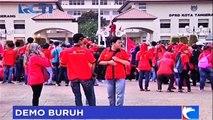 Ribuan Buruh Akan Kepung Istana Merdeka Siang Ini