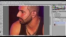Photoshop Cartoon Effect Tutorial #1 speed art (FATHI KZ) 2k16