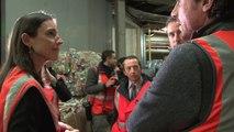 Brune Poirson visite le centre de tri des déchets de la Gare de Paris-Saint-Lazare