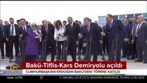 Bakü-Tiflis-Kars Demiryolu hattı açıldı