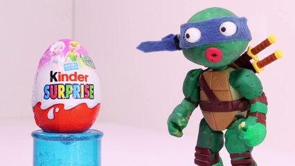 Slinky Ninja Turtle Superheroes Play Doh Cartoons _ Stop Motion Animated Videos