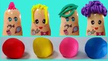 Learn Colors Play Doh Hair Cut Fun Creative Baby Finger Face Molds Nursery Rhymes For Kids