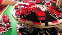 Hot Wheels Fire Trucks Ambulances and Police Cars   Fast Lane SOS Station   Fun Toy Cars for Kids