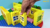 Peppa Pig Blocks Mega House LEGO Creations Sets With Masha And The Bear Legos Toys For Kids #12