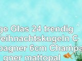 Inge Glas 24 trendige Weihnachtskugeln Champagner 6cm Champagner mattopal