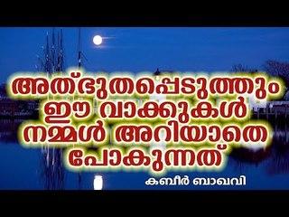 നിങ്ങളെ അത്ഭുതപ്പെടുത്തും ഈ വാക്കുകൾ Islamic Speech in Malayalam | islamicspeechtv | Kabeer Baqavi