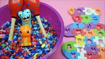 Colorful Alphabet Learning..Alphabet Puzzle - Colorful Stones - Surprise Toys And Plays