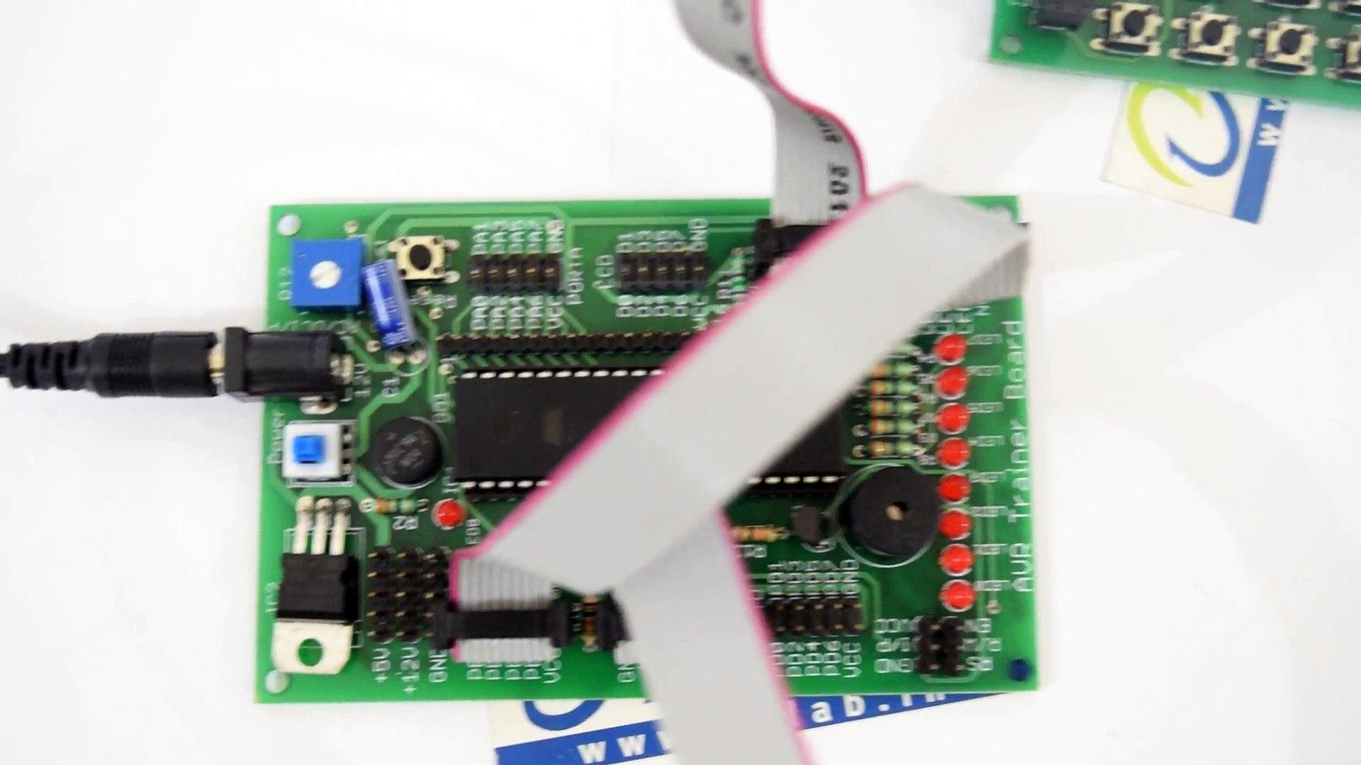 4X4 Keypad Interfacing with ATmega16 and LED Display