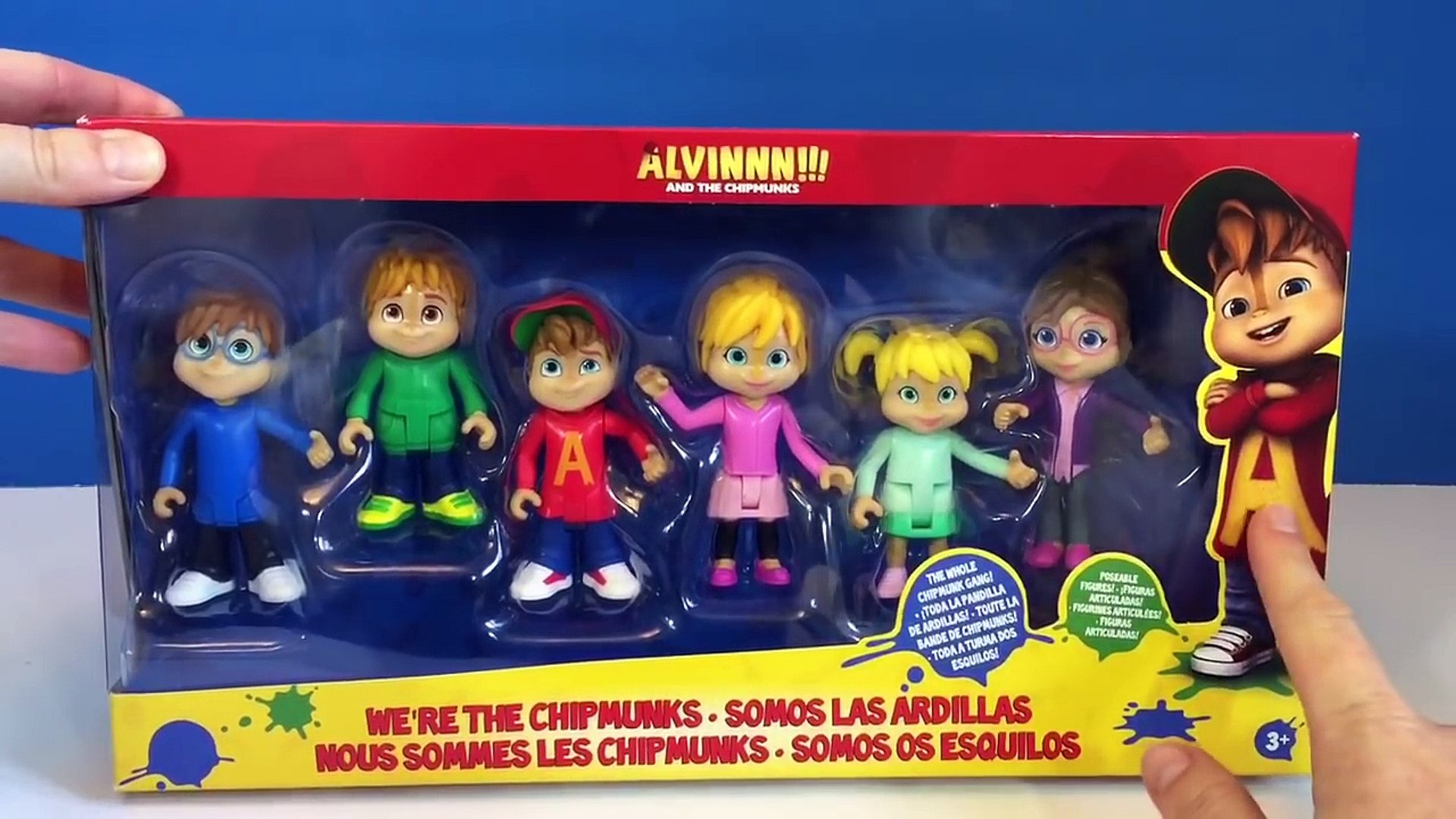 Alvin And The Chipmunks And Chipettes Toy Figure Unboxing Opening