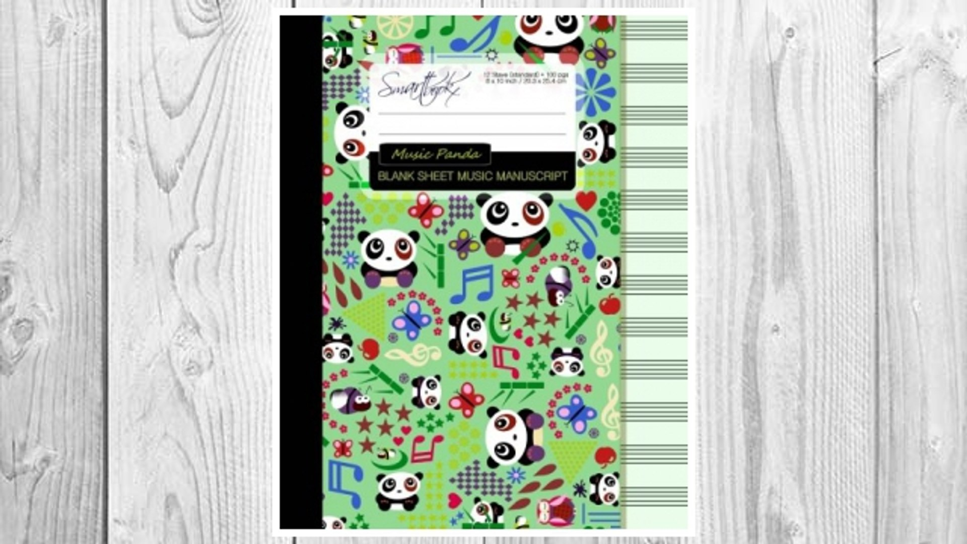 Download PDF Blank Sheet Music: Music Manuscript Paper / Staff Paper / Musicians Notebook [ Book Bou