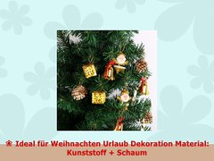 Xshuai 95 95 95 cm Santa Form Weihnachtsbaum Ornament Anhang