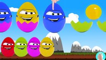 Mcqueen cars surprise eggs of Mobile Phones Learn colors with surprise eggs for kids