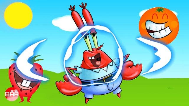 Wrong Mouth SpongeBob SquarePants, Patrick Star, Mr Krabs, Sandy Cheeks - Learning Colors for Kids