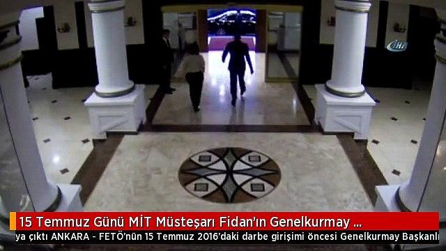 15 Temmuz Günü MİT Müsteşarı Fidan'ın Genelkurmay Karargahı'ndan Çıkış Anının Görüntüsü Ortaya Çıktı