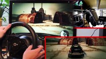 Epic GYMKHANA drifting Skills PC simulator Ken Block - DRIFT Racing Steering Wheel gameplay.