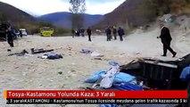 Tosya-Kastamonu Yolunda Kaza: 3 Yaralı