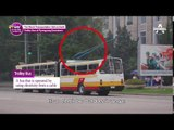 trolley bus in Pyongtang downtown,North Korea_NowOnMyWayToMeetYou_이만갑_Ep15_[ENG Sub]