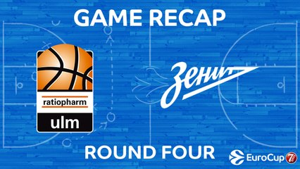 7Days EuroCup Highlights Regular Season, Round 4: Ulm 93-95 Zenit