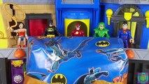 Imaginext Wonder Woman Invisible Jet Toy DC Super Friends Superman Batman Green Arrow Save Rapunzel