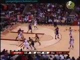 Kobe KO's Yao .Kobe Bryant fly around the corner to stonewal
