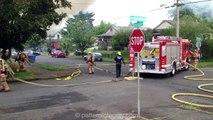 Pre Arrival Fully Involved House Fire North Portland Oswego House Fire St Johns neighborhood PDX