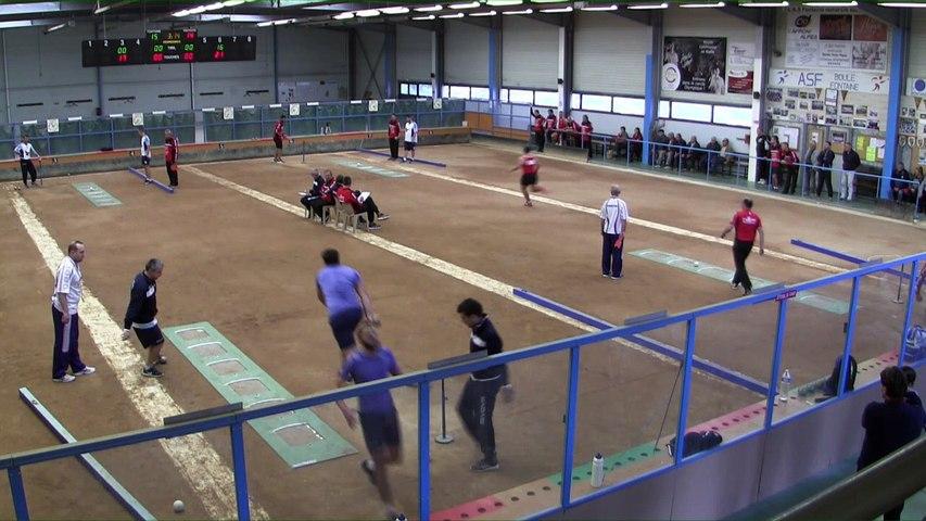 Troisième tour, tir rapide en double, Club Elite Masculin J2, Fontaine contre Balaruc-les-Bains, novembre 2017