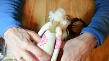 Doll tutorial Part 4 -needle felt doll hair-Needles used are are extremely sharp so use carefully