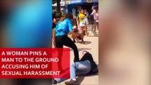 Une femme agresse avec ses seins un homme accusé de harcèlement