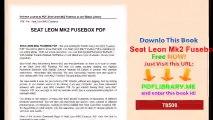 Seat Leon Mk2 Fusebox