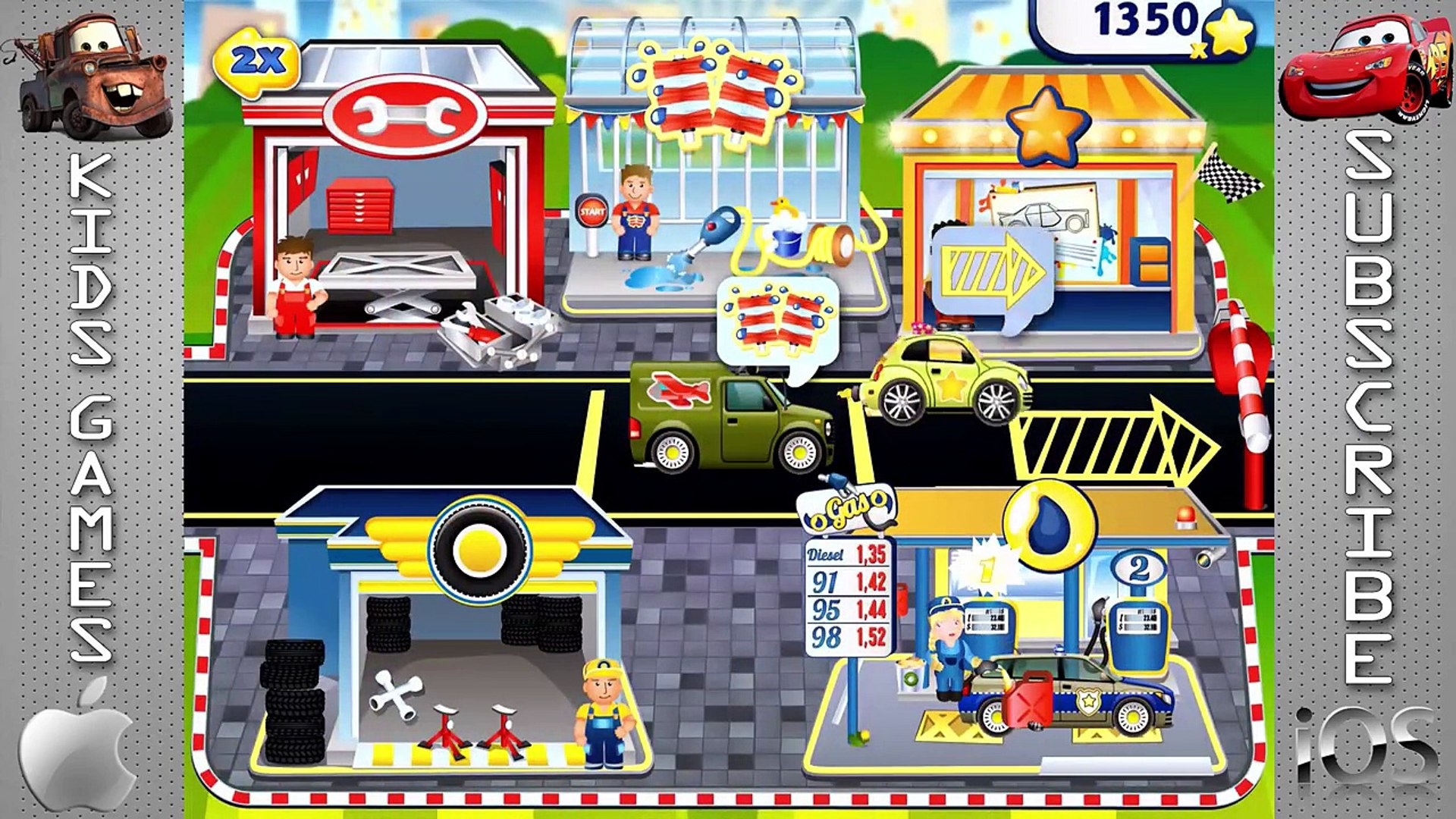 Dream Cars Fory - Service Cars : Police Car, Ambulance, Sports car - Best iOS Game App for Kids