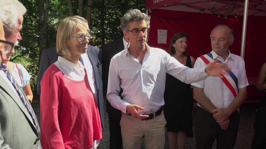 Françoise Nyssen à Chaillol - Retour sur la visite de la Ministre de la Culture  au festival de Chaillol. (4 août 2017)